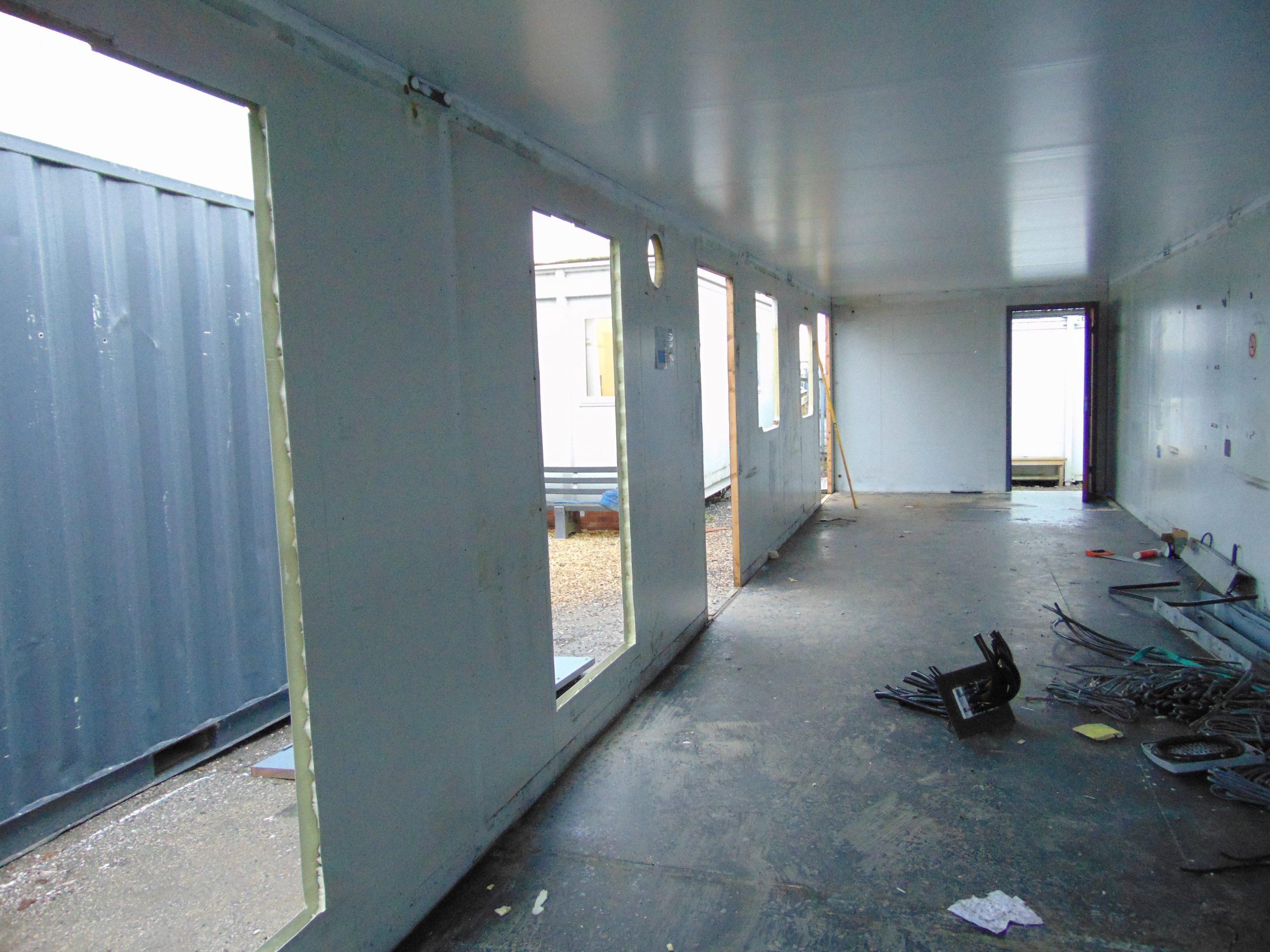 40' x 10' Portakabin refurbishment, portable cabin refurbishment,